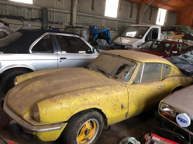 1973 Triumph Gt6 yellow 62k genuine barn find SOLD (picture 1 of 6)