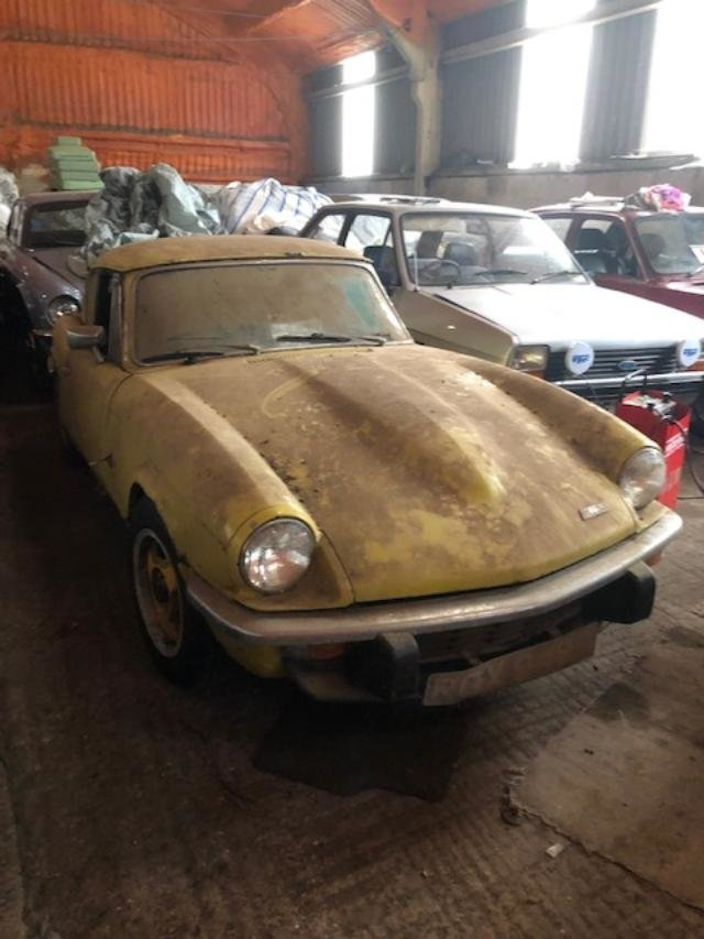 1973 Triumph Gt6 yellow 62k genuine barn find SOLD (picture 5 of 6)