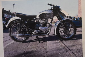 A 1956 Triumph Tiger 110 fully restored 05/10/2019