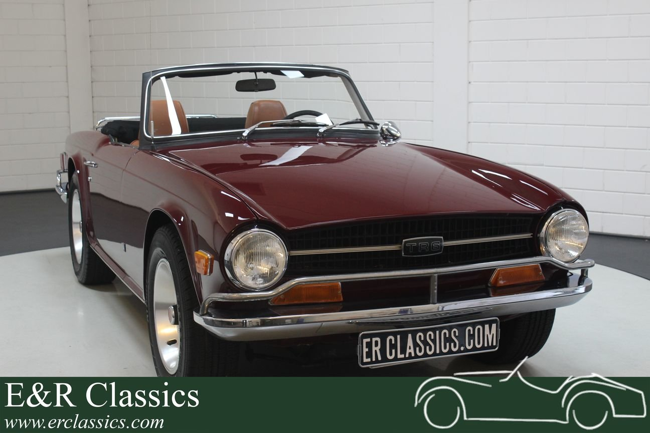Triumph TR6 Cabriolet 1972 Burgundy red For Sale (picture 1 of 6)