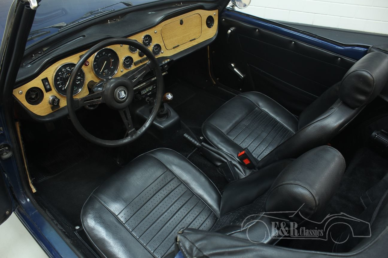 Triumph TR6 cabriolet 1975 Delft Blue For Sale (picture 3 of 6)