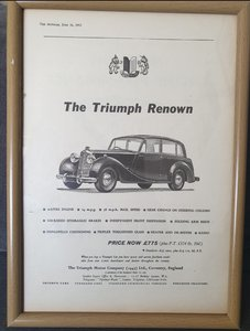 1953 Triumph Renown Advert Original