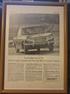 1963 Original Triumph Vitesse Advert