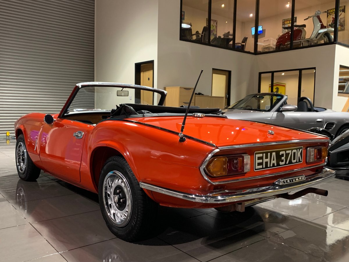 1972 TRIUMPH SPITFIRE 1300 Mark IV RED WITH BLACK TRIM For Sale (picture 6 of 6)