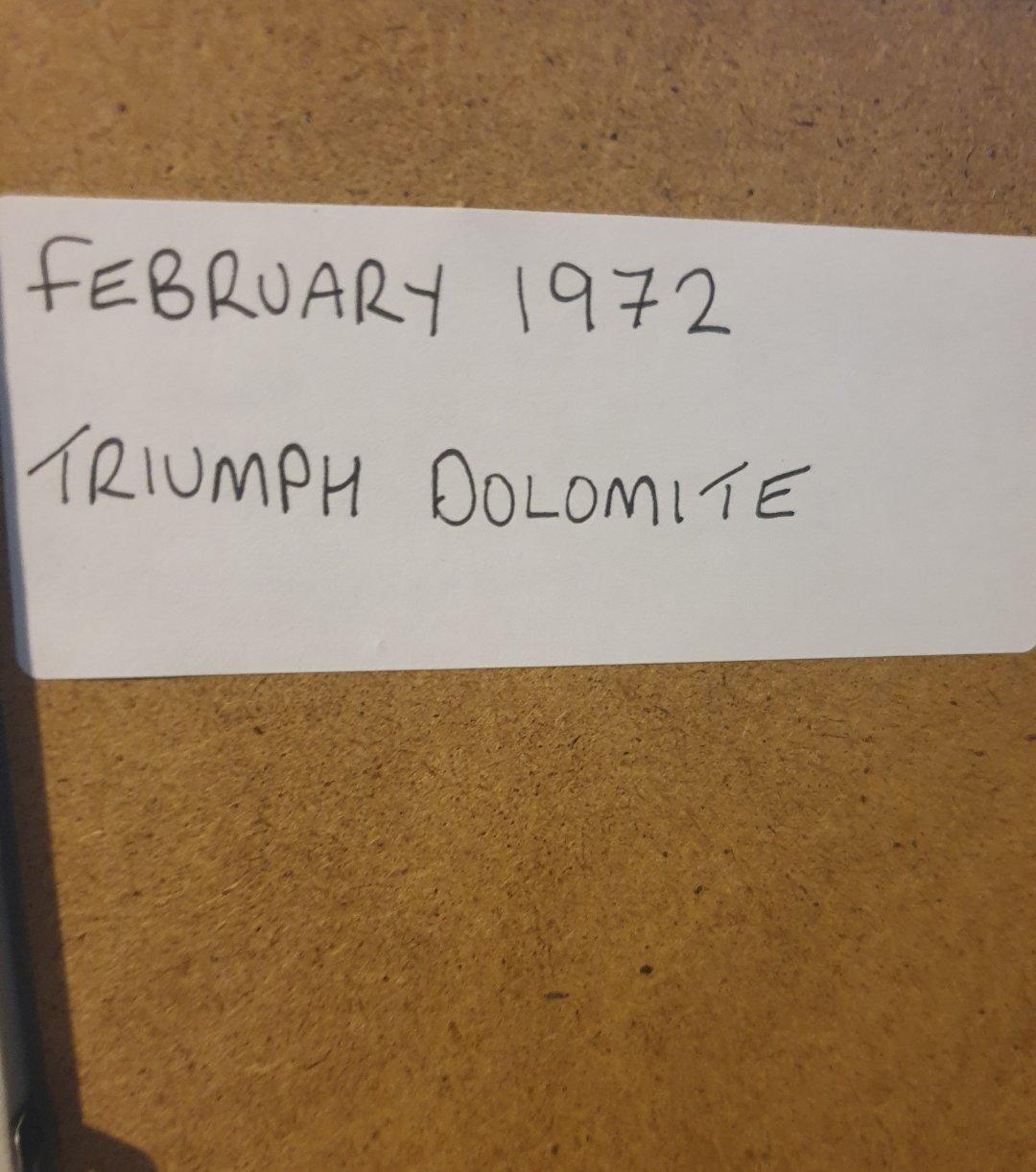 1972 Triumph Dolomite Advert Original  For Sale (picture 2 of 2)