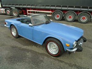 TRIUMPH TR6 2.5 LHD CONVERTIBLE (1975) FRENCH BLUE!  SOLD