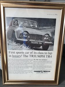 1962 Triumph TR4 advert Original