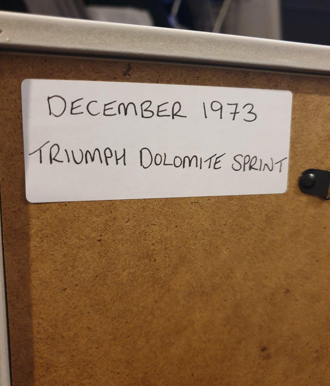 1973 Original Triumph Dolomite Sprint Advert For Sale (picture 2 of 2)