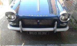 1970 Triumph Herald Valencia blue  SOLD