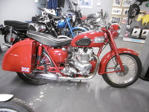 1957 SpeedtwinT100 1956 with Tiger top end and Metal luggage