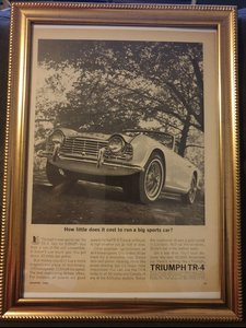 1962 Triumph TR 4 advert Original