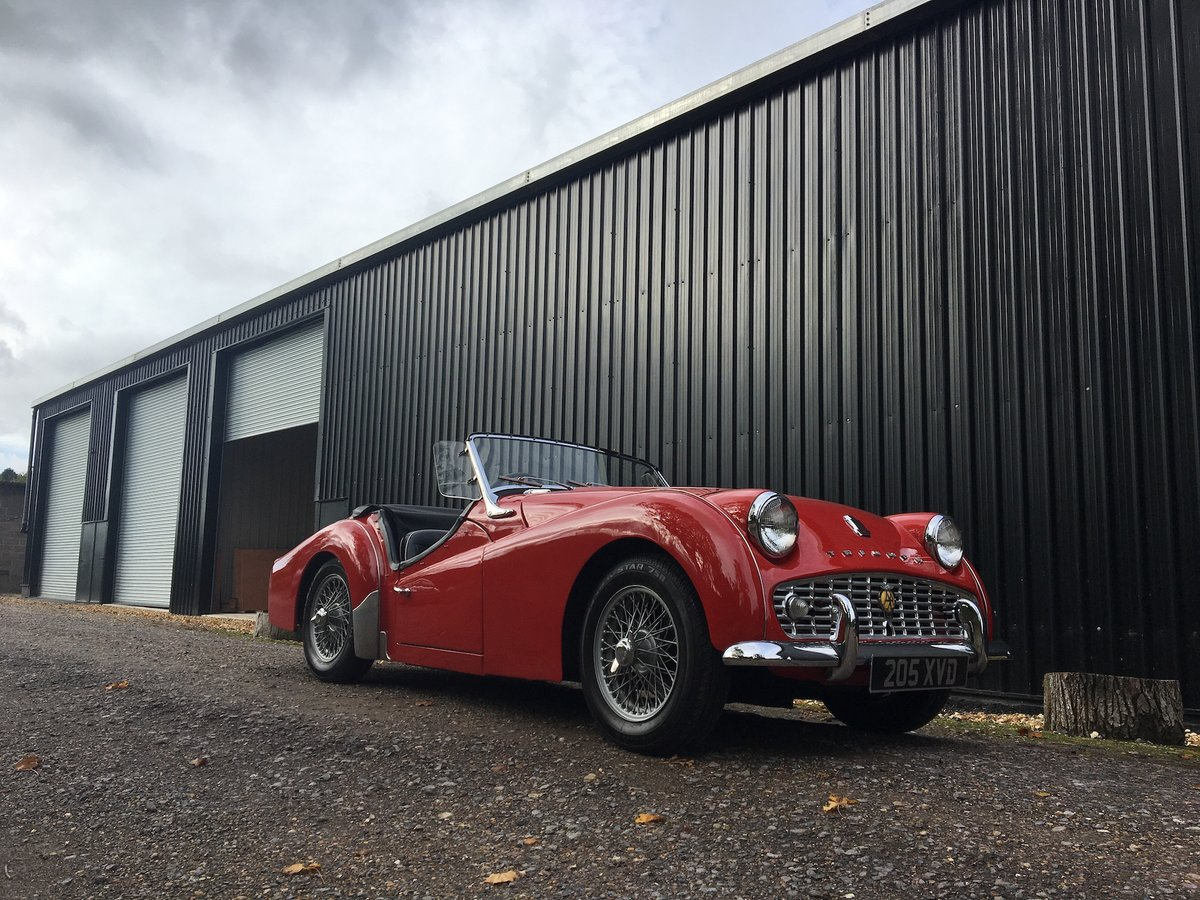 1959 Triumph TR3A for sale in Hampshire ... For Sale (picture 6 of 6)