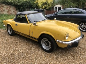 1976 Triumph spitfire 1500 mkIV yellow lovely drive For Sale