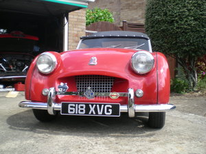 1954 Tr2 small mouth with overdrive.