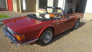 1974 Triumph tr6 carmine red parchment interior SOLD