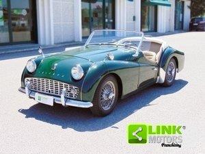 Triumph TR 3 A Overdrive, anno 1958, iscritto A.S.I., resta