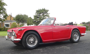 1966 Triumph TR4A. Coachwork by Michelotti For Sale by Auction