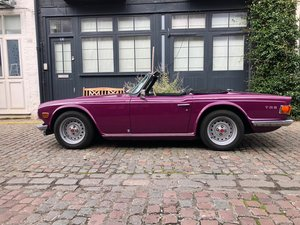 1973 Triumph TR6 2.5 PI Exceptional Magenta RHD UK car For Sale