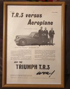 1957 Triumph TR3 Advert Original
