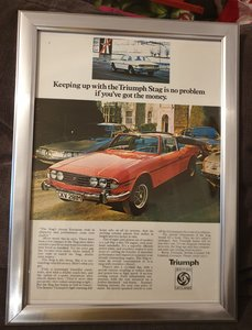 1974 Triumph Stag Advert Original