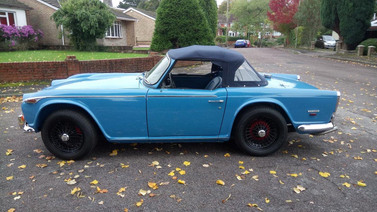 1968 Triumph TR 250 LHD blue. For Sale (picture 1 of 6)