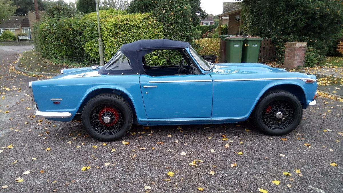 1968 Triumph TR 250 LHD blue. For Sale (picture 6 of 6)