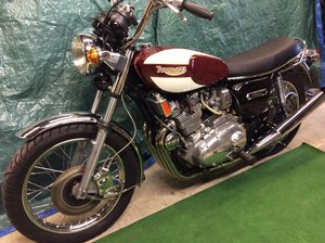 1977 Triumph T160  very nice example.