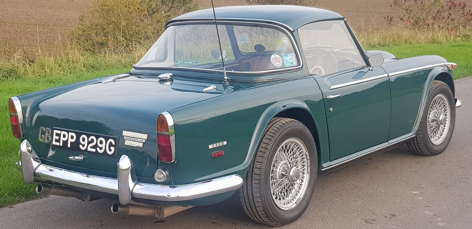 1968/G TRIUMPH TR5 PI WITH SURREY TOP MANUAL O/D GREEN For Sale (picture 3 of 6)