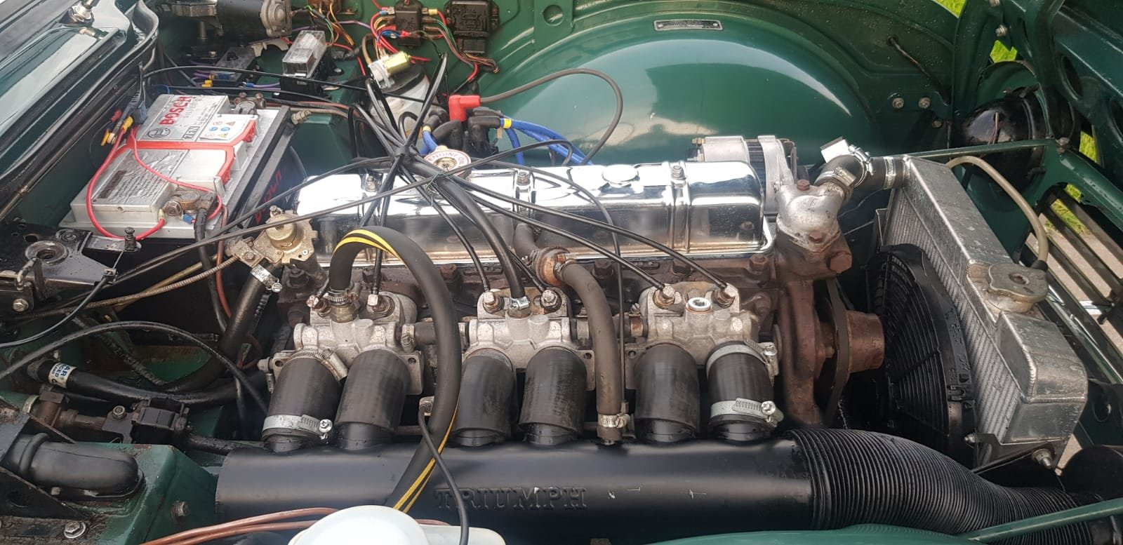 1968/G TRIUMPH TR5 PI WITH SURREY TOP MANUAL O/D GREEN For Sale (picture 5 of 6)