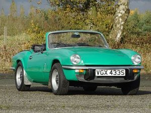 1977 Triumph Spitfire 1500 For Sale by Auction