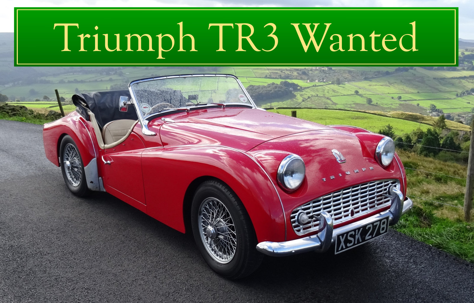 1956 TRIUMPH TR3 WANTED, CLASSIC CARS WANTED, QUICK PAYMENT Wanted (picture 1 of 6)