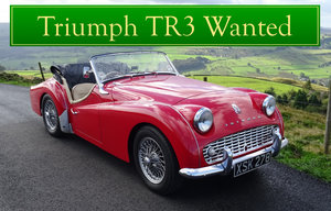 1956 TRIUMPH TR3 WANTED, CLASSIC CARS WANTED, QUICK PAYMENT Wanted