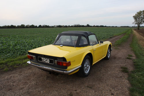 TR6 1974 ORIGINAL UK FUEL INJECTED CAR WITH OVERDRIVE SOLD (picture 5 of 6)