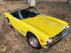 1973 Triumph TR6 Roadster Convertible LHD Yellow $17.5k