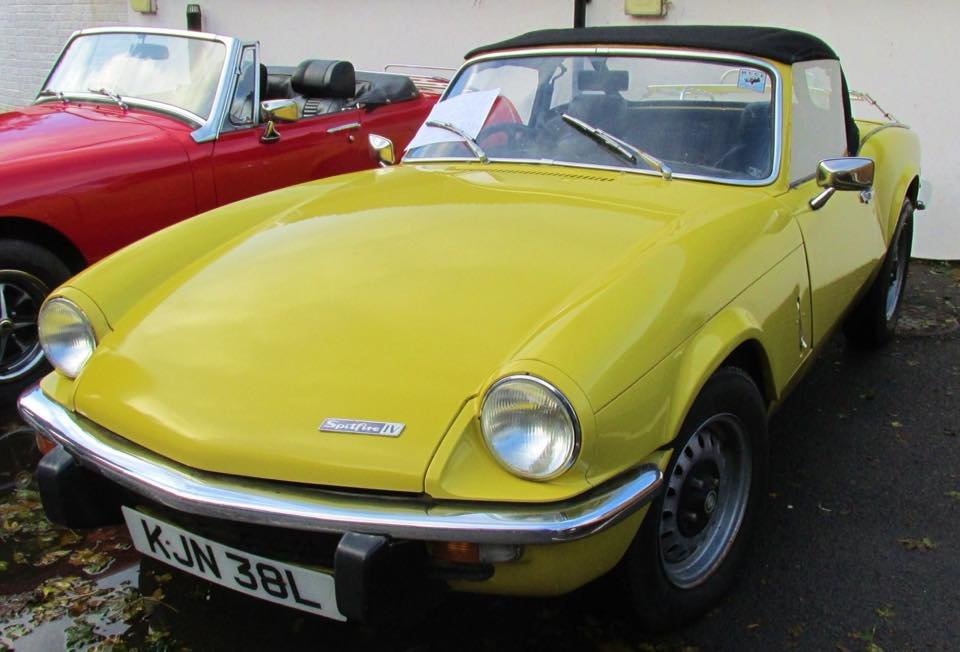 1973 TRIUMPH SPITFIRE MkIV 1296cc. O/DRIVE. YELLOW 42K MILES For Sale (picture 1 of 5)