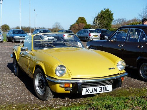 1973 TRIUMPH SPITFIRE MkIV 1296cc. O/DRIVE. YELLOW 42K MILES For Sale (picture 2 of 5)