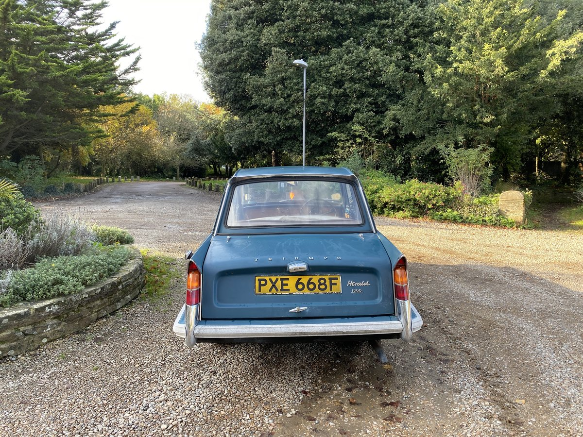 1965 TRIUMPH HERALD 3 OWN 30K MILES (REDUCED) For Sale (picture 5 of 6)