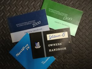 Triumph various Owners Handbooks  For Sale