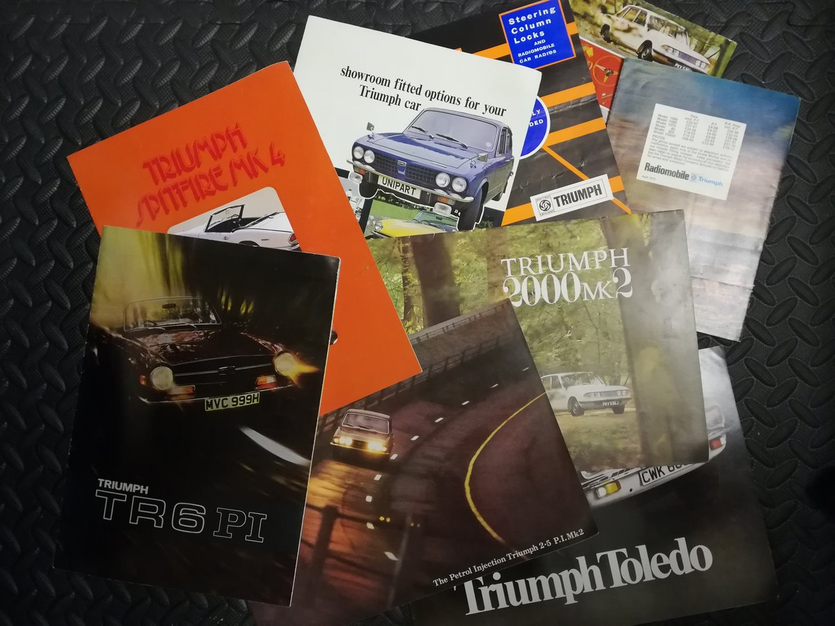 Triumph Sales Brochures For Sale (picture 1 of 1)