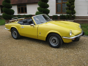 1973 TRIUMPH SPITFIRE MkIV 1296cc. O/DRIVE. YELLOW 42K MILES For Sale