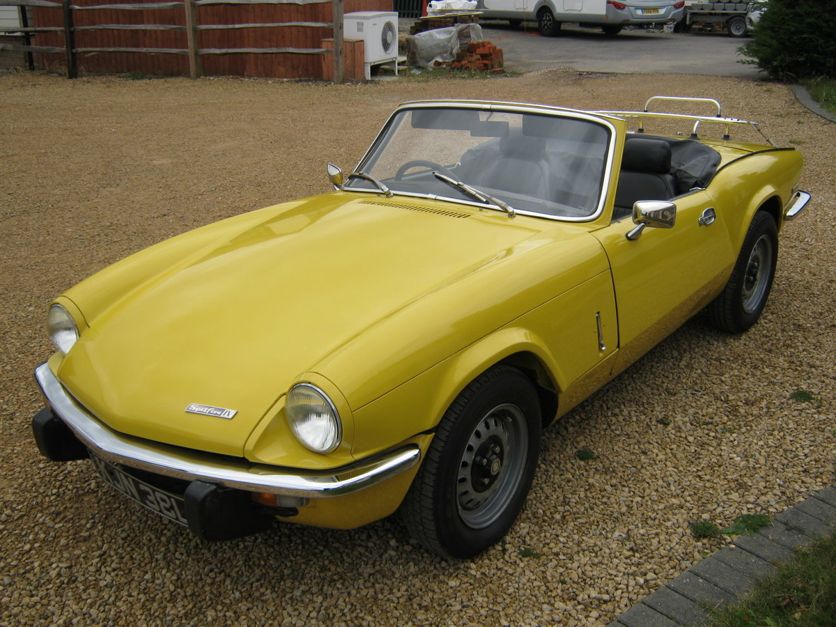 1973 TRIUMPH SPITFIRE MkIV 1296cc. O/DRIVE. YELLOW 42K MILES For Sale (picture 2 of 6)