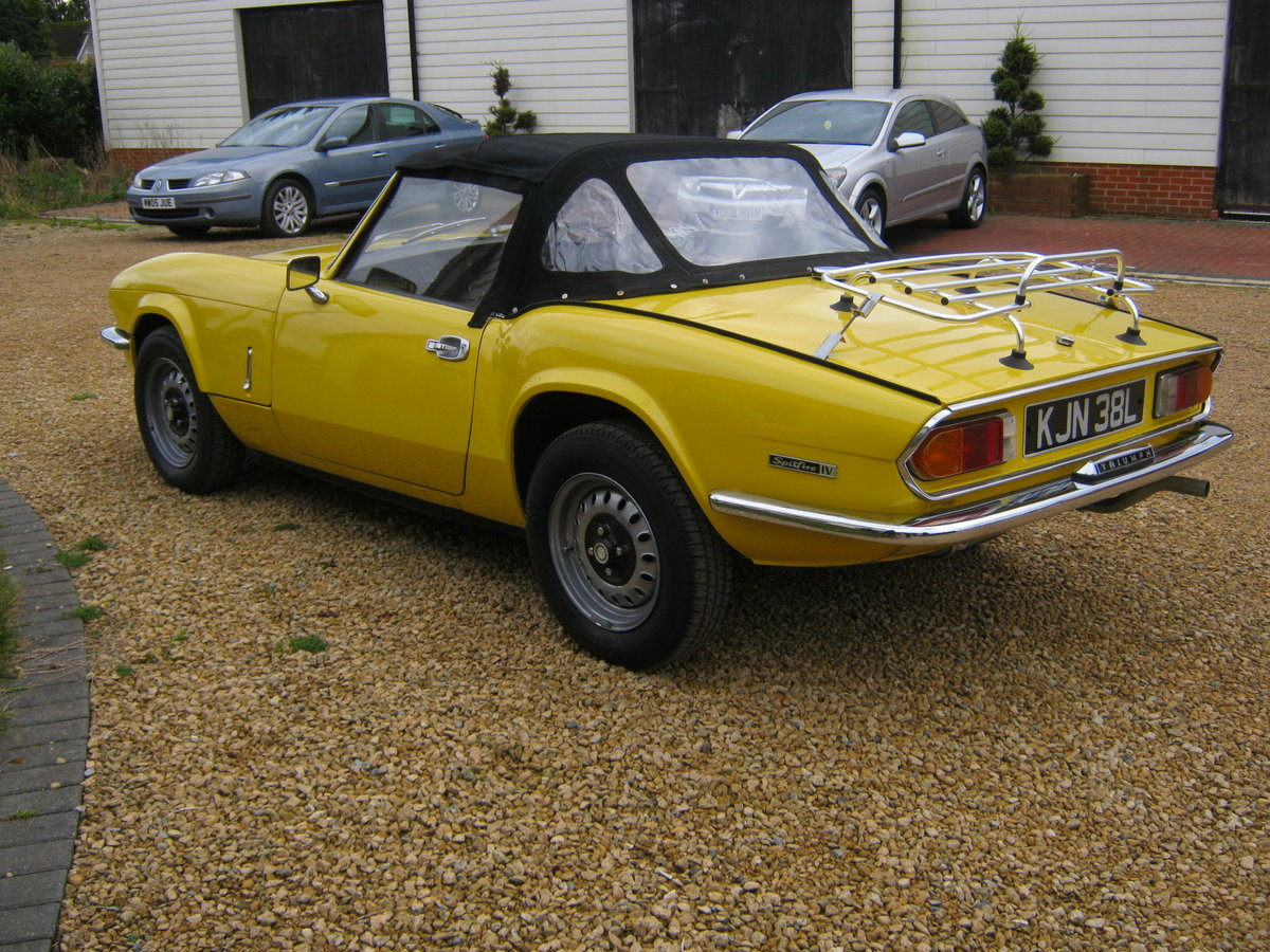 1973 TRIUMPH SPITFIRE MkIV 1296cc. O/DRIVE. YELLOW 42K MILES For Sale (picture 3 of 6)