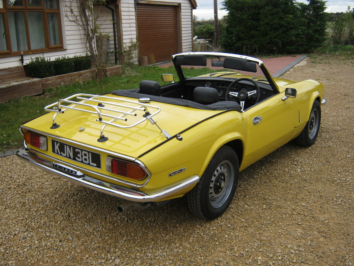 1973 TRIUMPH SPITFIRE MkIV 1296cc. O/DRIVE. YELLOW 42K MILES For Sale (picture 4 of 6)