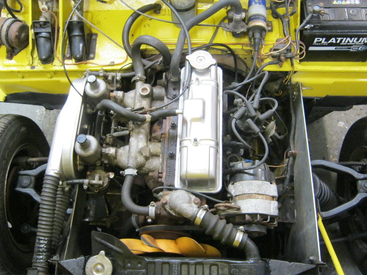 1973 TRIUMPH SPITFIRE MkIV 1296cc. O/DRIVE. YELLOW 42K MILES SOLD (picture 6 of 6)