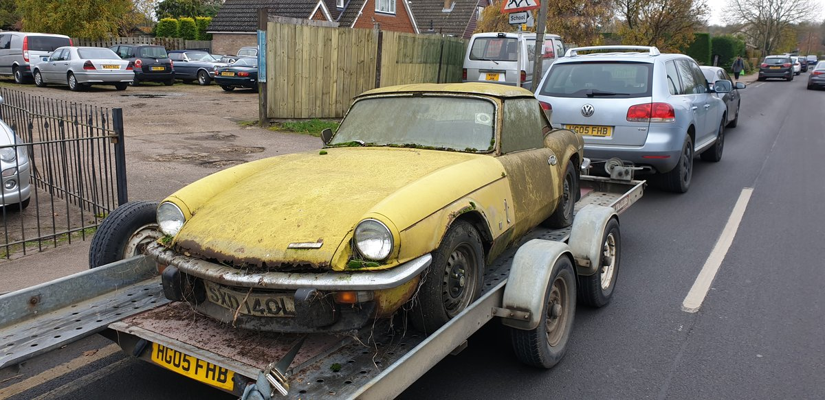 1973 Triumph Spitfire Mk.IV for restoration For Sale (picture 2 of 6)