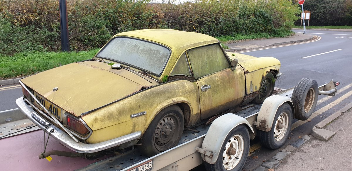 1973 Triumph Spitfire Mk.IV for restoration For Sale (picture 3 of 6)