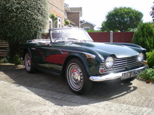1966 PRICE LOWERED.  TRIUMPH TR4A with overdrive.  For Sale