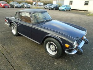 1975 TRIUMPH TR6 2.5 LHD CONVERTIBLE SAPPHIRE BLUE!  For Sale