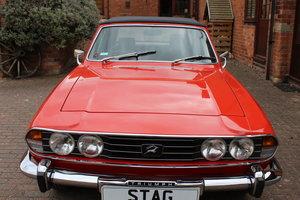Triumph Stag Mk11 1973 Auto in Red. Nut and Bolt Rebuild. For Sale