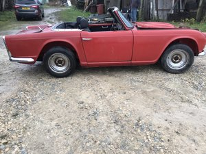 1962 Triumph tr4 restoration project lhd with papers